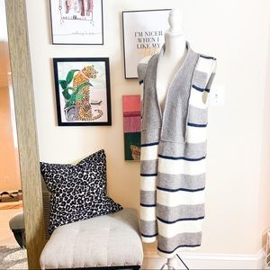 🎃 Anthropologie Striped Duster cardigan